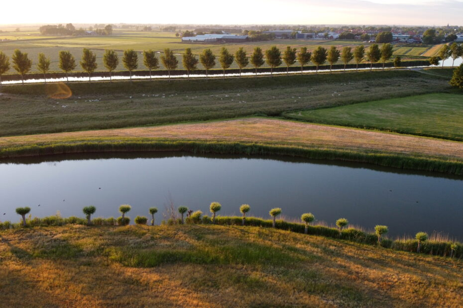 Drone photo of Dutch landscape by Amsterdam photographer Tom van der Leij