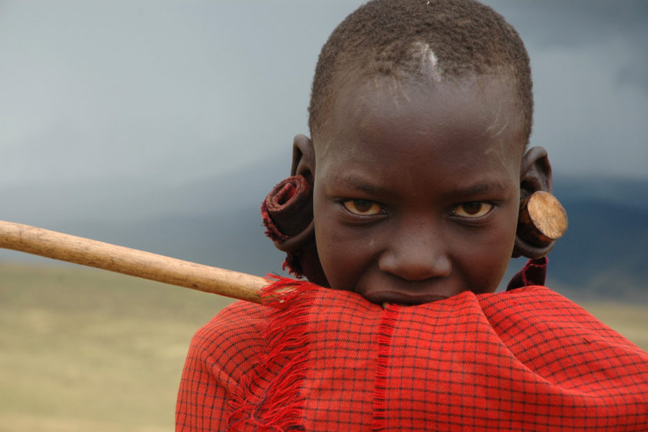 Maasai boy in Tanzania. Photo by Tom van der Leij.
