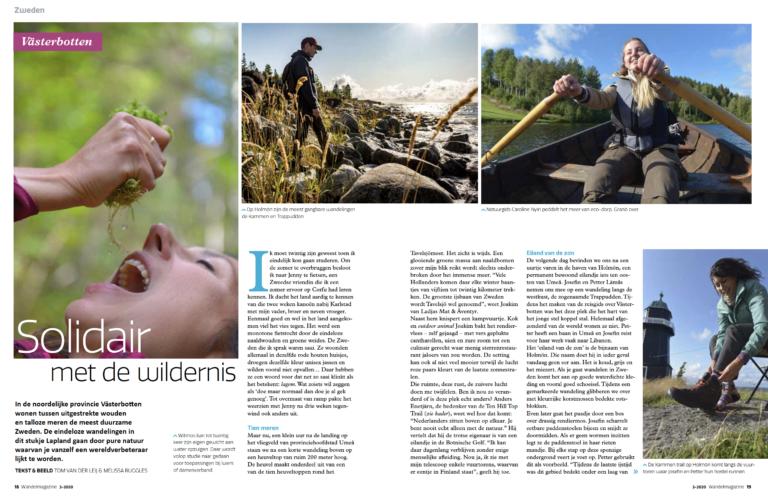 Wandel magazine cover about trip to Sweden by Tom van der Leij.
