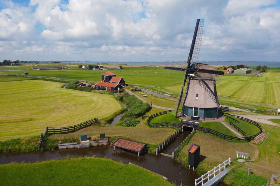 Drone photo of Dutch countryside. Photo by Tom van der Leij.