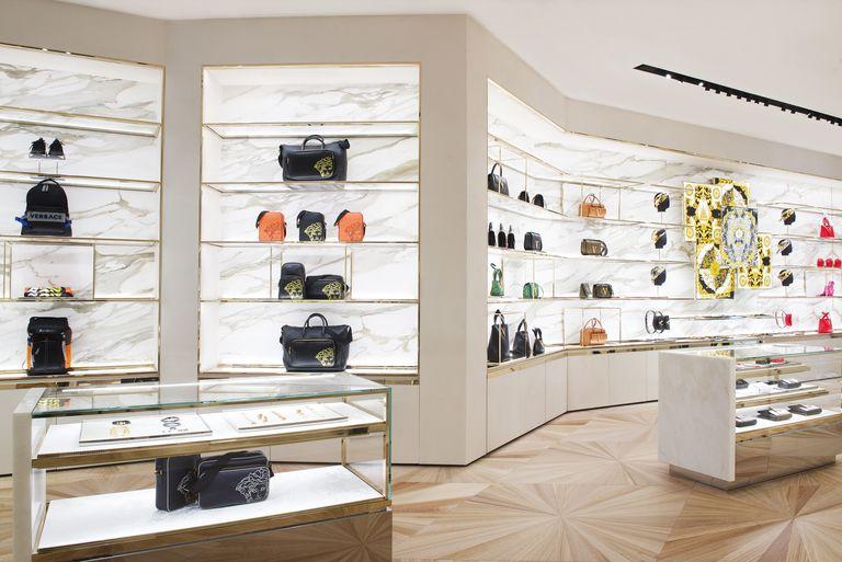 Launch of Versace store in Amsterdam on the PC Hooftstraat appearing in Harper's Bazaar online by Tom van der Leij.